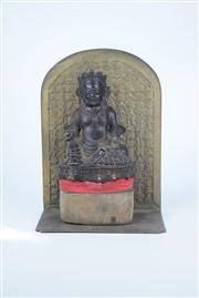 Sale 8381B - Lot 12 - Bronze Buddha with a Character Background