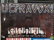 Sale 8421 - Lot 1037 - Vintage and Original Ultravox New Album HA HA HA Promotional Poster (50.5cm x 76cm)