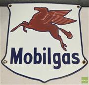 Sale 8435 - Lot 1046 - Enamel Mobilgas Sign 31cm x 31cm