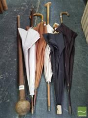 Sale 8447 - Lot 1030 - Collection of Parasols and Sticks