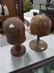 Sale 8601 - Lot 1365 - Two Vintage Hat Blocks