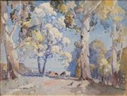 Sale 8642 - Lot 558 - Benjamin Minns (1864 - 1937) - Grazing Cattle, 1934 28 x 35.5cm