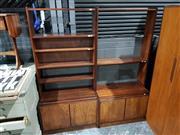 Sale 8765 - Lot 1095 - Pair of Open Bookcases with 2 Doors Below
