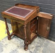 Sale 9031 - Lot 1034 - Victorian Mahogany Davenport, with gallery back, hinged brown leather writing slope, with plain interior, a stationery drawer to the...