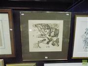 Sale 8483 - Lot 2013 - Paul Delprat - Adam and Eve Treehouse 28 x 30cm
