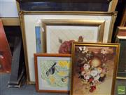 Sale 8513 - Lot 2061 - Group of Assorted Artworks incl Original Watercolours and Decorative Prints (framed/various sizes) (5)
