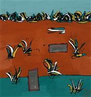 Sale 8640 - Lot 2003 - Julie C Williams - Untitled 30.5 x 30.5cm (frame: 58 x 58cm)