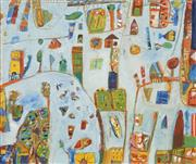 Sale 8722 - Lot 513 - Peter Ferguson (1956 - ) - Untitled, 2004 115 x 135cm