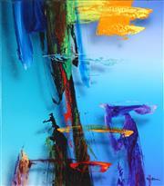 Sale 8781 - Lot 506 - Ben Stack (1959 - ) - Laguna Study IV, 2000 78.5 x 68.5cm