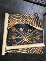 Sale 8824 - Lot 2025 - Two Aboriginal Artworks (unstretched)