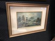 Sale 8836 - Lot 2052 - William Henry Rawthorn - On the Avon, watercolour, frame size - 44 x 60cm, signed lower rightb