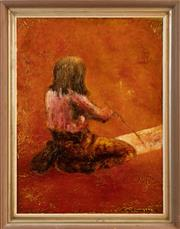 Sale 9071H - Lot 38 - Judy Chapman - Portrait of a young artist Signed Lower Right