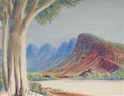 Sale 9084 - Lot 584 - Douglas Abbott (1948 - ) - Central Australian Landscape 33 x 45.5 cm (frame: 50 x 62 x23 cm)