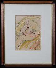 Sale 8630A - Lot 5 - Charles Blackman (1928 - 2018) - Joy 29 x 21cm