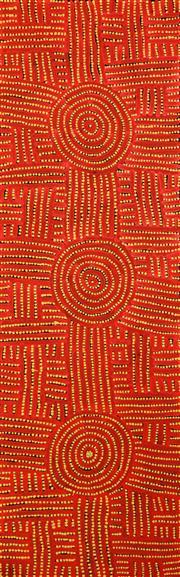 Sale 8349 - Lot 530 - Bambatu Napangardi (c1940 - ) - Kungka Tjukurrpa 147 x 44cm