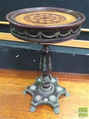 Sale 8412 - Lot 1003 - Timber Inlaid Wine Table