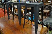 Sale 8507 - Lot 1085 - Three Tolix Style Bar Stools
