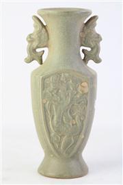 Sale 8815C - Lot 67 - Celadon Chinese Vase (H 24cm)
