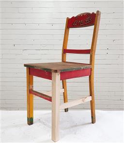 Sale 9117 - Lot 1028 - Original Arnotts kitchen chair (h:94 x w:42 x d:41cm)