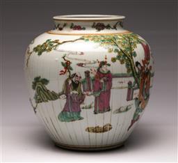 Sale 9107 - Lot 81 - A Famille Verte Globular Vase (H 24cm)