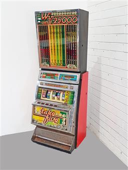 Sale 9137 - Lot 1001 - Take 5 Gaming machine (h:139 x w:50cm)