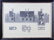 Sale 8341A - Lot 13 - An antique style French architectural print, Bois de Boulogne, 56 x 76cm including frame