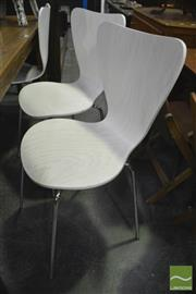 Sale 8361 - Lot 1099 - Set of 6 White Cafe Chairs