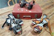 Sale 8409 - Lot 1013 - Vintage Cased Roller Skates incl. Two Pairs and a Spare -