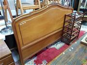 Sale 8593 - Lot 1051 - Timber Bedhead