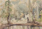 Sale 8663 - Lot 2119 - Albert Collins (1883 - 1951) - Untitled, 1944 (River Bank) 27.5 x 39cm