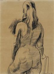 Sale 8704A - Lot 5068 - Noel Counihan (1913 - 1986) - Sketch of Girl, 1960 53.5 x 39cm