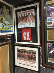 Sale 8750 - Lot 2084 - 2 Signed Framed Memorabilia of the Swifts