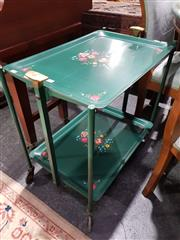 Sale 8760 - Lot 1034 - Vintage Metal Foldout Serving Trolley