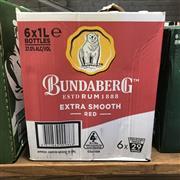 Sale 8801W - Lot 27 - 6x Bundaberg Red Rum, 1000ml