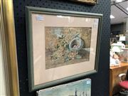 Sale 8836 - Lot 2056 - Frederick Flockton - Bird Nest, watercolour, frame size - 32 x 38cm, signed lower right