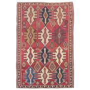 Sale 8910C - Lot 3 - Antique Caucasian Kuba Kilim, 310x200cm, Handspun Wool