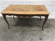 Sale 9071 - Lot 1010 - Timber Coffee Table with Carved Apron (H:51 W:98 D:53cm)