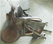 Sale 8319 - Lot 312 - Vintage leather riding saddle