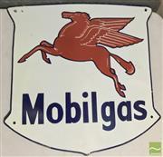 Sale 8435 - Lot 1050 - Enamel Mobilgas Sign 58cm x 60cm