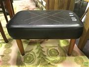 Sale 8629 - Lot 1054A - Leather Footstool on Timber Legs
