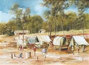 Sale 8755 - Lot 512 - John Guy (1944 - 2000) - Spicks & Specks (Mt William Goldfield, Victoria) 29.5 x 40cm