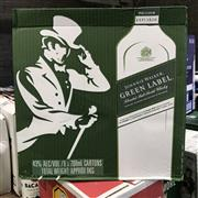 Sale 8801W - Lot 28 - 6x Johnnie Walker 15YO Green Label Scotch Whisky, 700ml