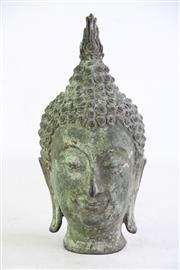Sale 8852 - Lot 7 - A Bronze Archaic Style Buddha Head (H 22cm)