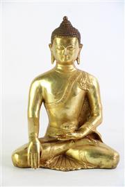 Sale 8855D - Lot 701 - Chinese Gilt Bronze Figure of Buddha Skakyamuni, in Bumipharsa Mudra (H 20cm)