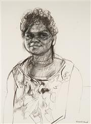 Sale 9063A - Lot 5021 - Margaret Woodward (1938 -) - Native Girl 74.5 x 55 cm (frame: 102 x 82 x 3 cm)