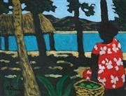 Sale 9084 - Lot 548 - Ray Crooke (1922 - 2015) - Fruit Basket 29.5 x 38.5 cm (frame: frame: 47 x 57 x 2 cm)