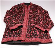 Sale 9070 - Lot 19 - A Silk Floral Tunic, Decorated With Flowers