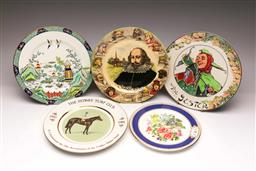 Sale 9107 - Lot 30 - A Boxed Wedgwood Plate Together with A Royal Doulton Cabinet Plate and Commemorative Examples