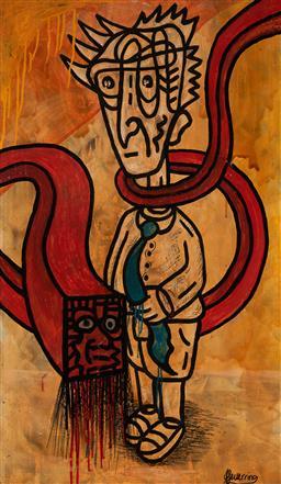Sale 9133 - Lot 562 - Justin Feuerring (c1985 - ) - Totem Under the Ocean 101 x 60 cm (frame: 104 x 63 x 4 cm)
