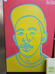Sale 8449 - Lot 2033 - Jack Vigor (Street Artist, CASPER) - Tyler the Creator 76 x 50.5cm (stretched & ready to hang)